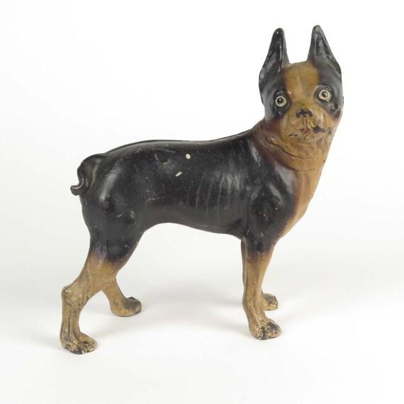 image 0 - Boston Terrier Door Stop Cast Iron Antique Vintage Dog Metal Etsy