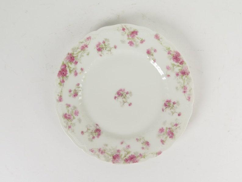 Haviland Limoges France pink asters salad plate 7 5