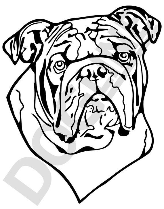 English Bulldog Vinyl Sticker Dogline Custom