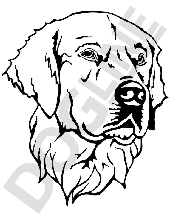 Retriever Vinyl Sticker Dogline Custom