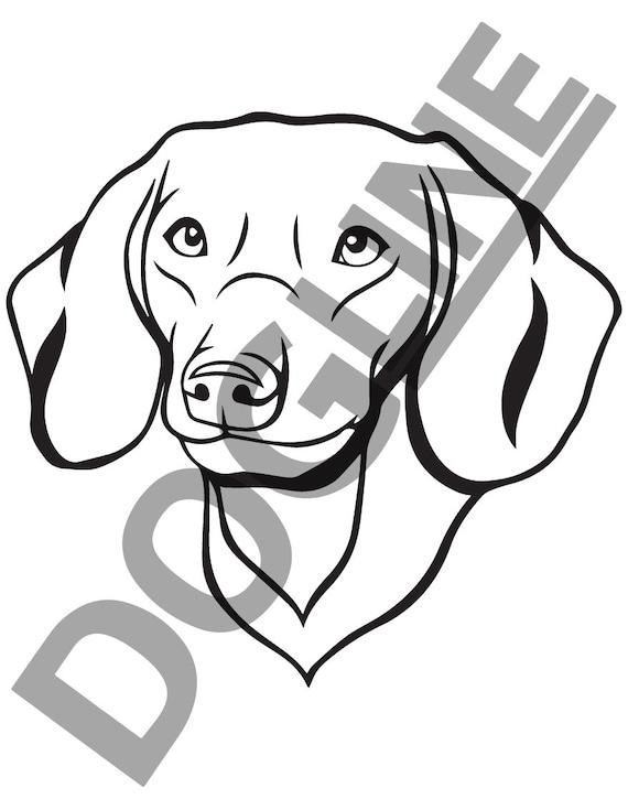 Dachshund Dogline Womens Dog Lovers Graphic Tee