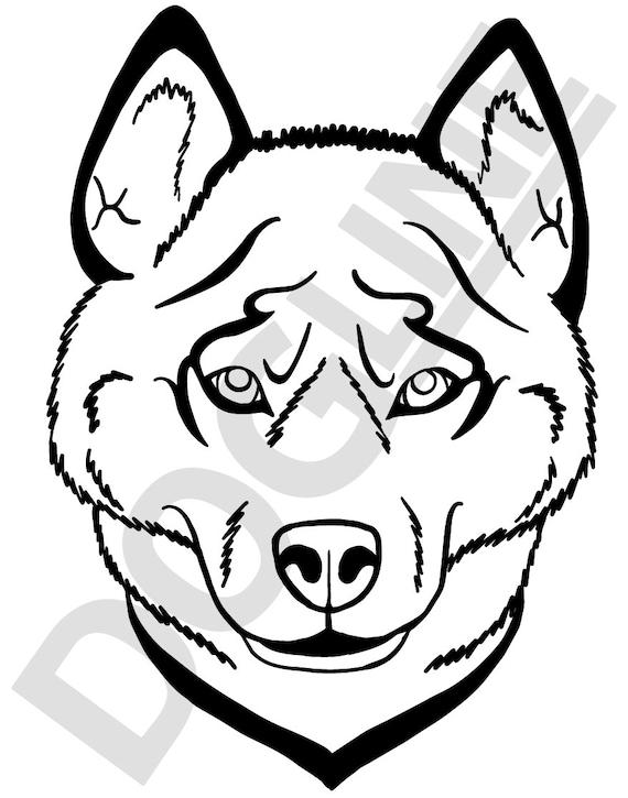 Siberian Husky Vinyl Sticker Dogline Custom