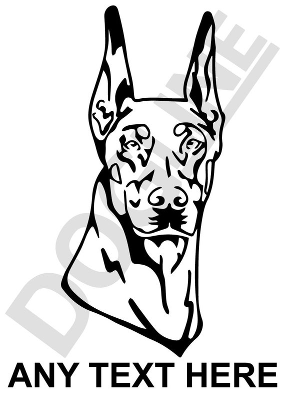 Doberman Pinscher Vinyl Sticker Dogline Custom