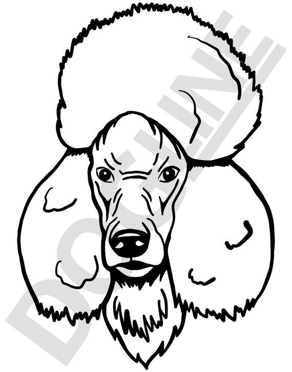 Poodle Vinyl Sticker Dogline Custom