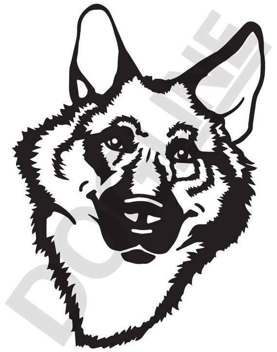 German Shepherd Vinyl Sticker Dogline Custom