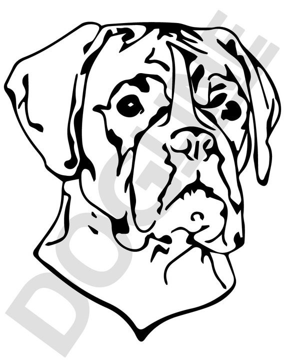 Boxer Vinyl Sticker Dogline Custom