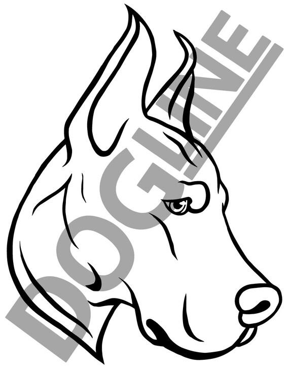 Great Dane Dogline Mens Dog Lovers Graphic Tee