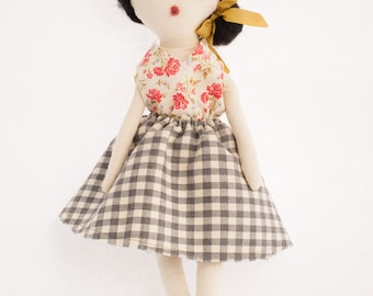 Rag Doll Modern Cloth Doll | Eleana