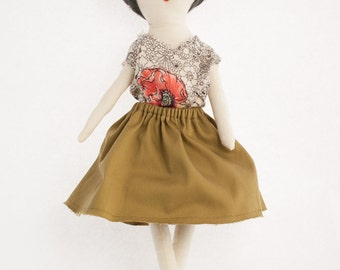 Rag Doll Modern Cloth Doll | Cassandra