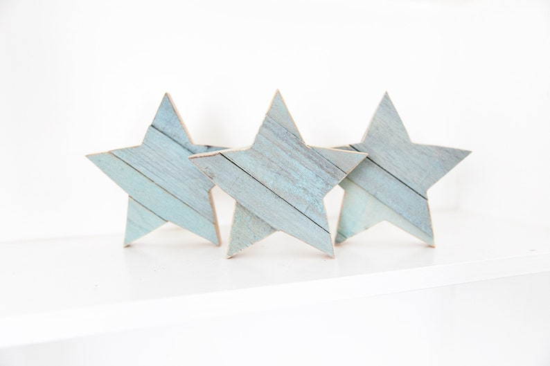 Blue Stars Light Baby Blue Star Wood Star Wooden Star for image 0