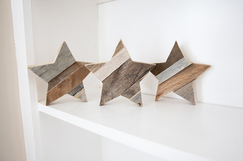 Wood Star Rustic Home Decor Wooden Star Farmhouse Decor image 0