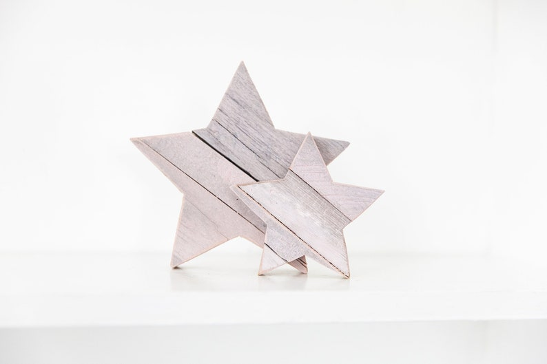 Pink Stars Light Baby Pink Star Wood Star Wooden Star for image 0