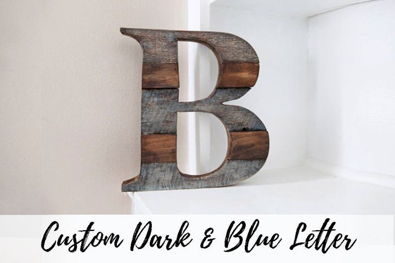 Wood Letter Fall Wall Decor Room Decor Rustic Home Decor image 0
