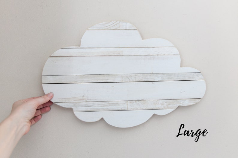 White Cloud for Nursery Wall Baby Room Wall Decor Adventure Large Cloud