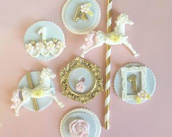 construction trucks themed birthday fondant cupcake topper etsy