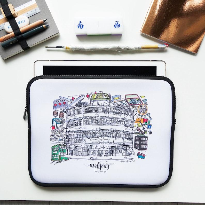 Kowloon City Mahjong Factory Laptop Sleeve 13 inch