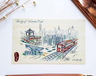 Hong Kong Sketch Sketch Bamboo Postcards – Victoria Peak, Tai Kwun, Murray House