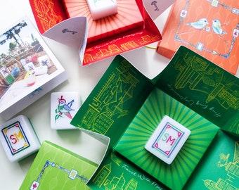 NEW BOX 2.0! Hong Kong Hand-carved Mahjong & City Landscape Illustration - Traditional patterns, Hong Kong cultural gift