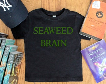 Percy Jackson Themed Seaweed Brain Youth Shirt. Percy Jackson. Annabeth Chase. Book Shirt. Camp Half Blood. YA Book. Poseidon. Demigod.