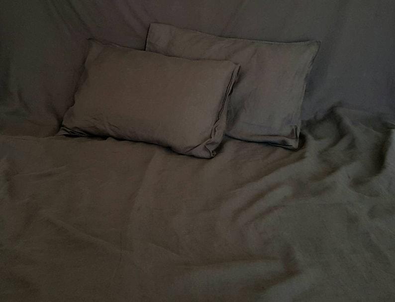 Schokolade Braun Leinen Bettwäsche Bio Leinöl Bettwäsche Weichen Leinen Bettbezug Dunkelbraun Leinen Sham Einweihungsparty Geschenk