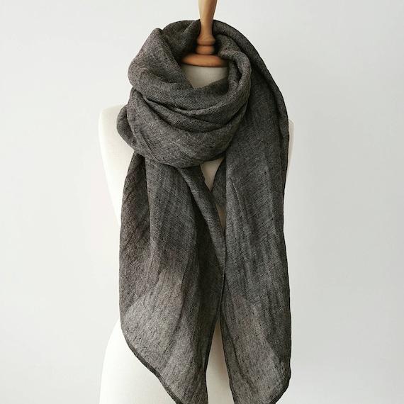 Foulard surdimensionné Non bordées décharpe gris automne   Etsy 90c7d2ad32d