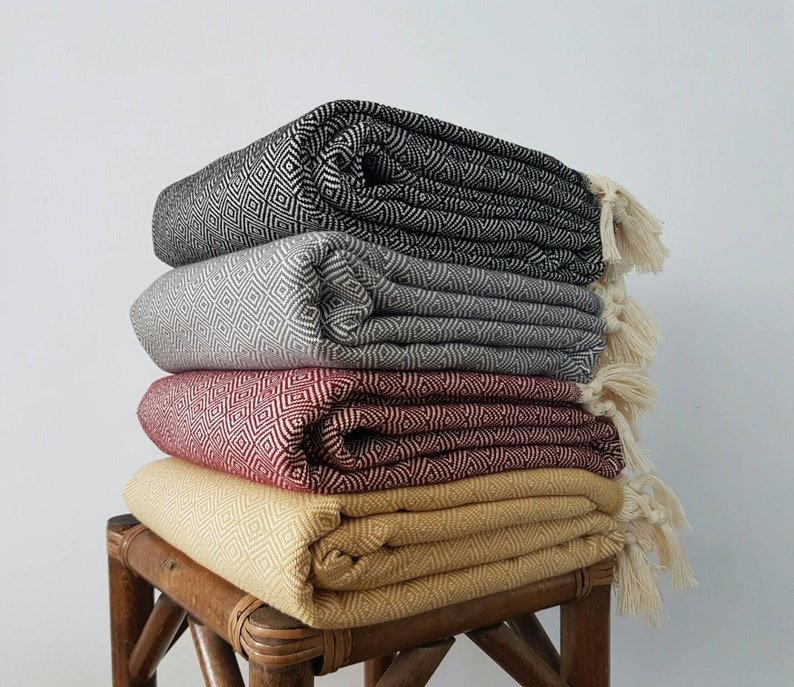 Throw Blanket  Handloomed Blanket Throw  Couch Coverlet   image 0