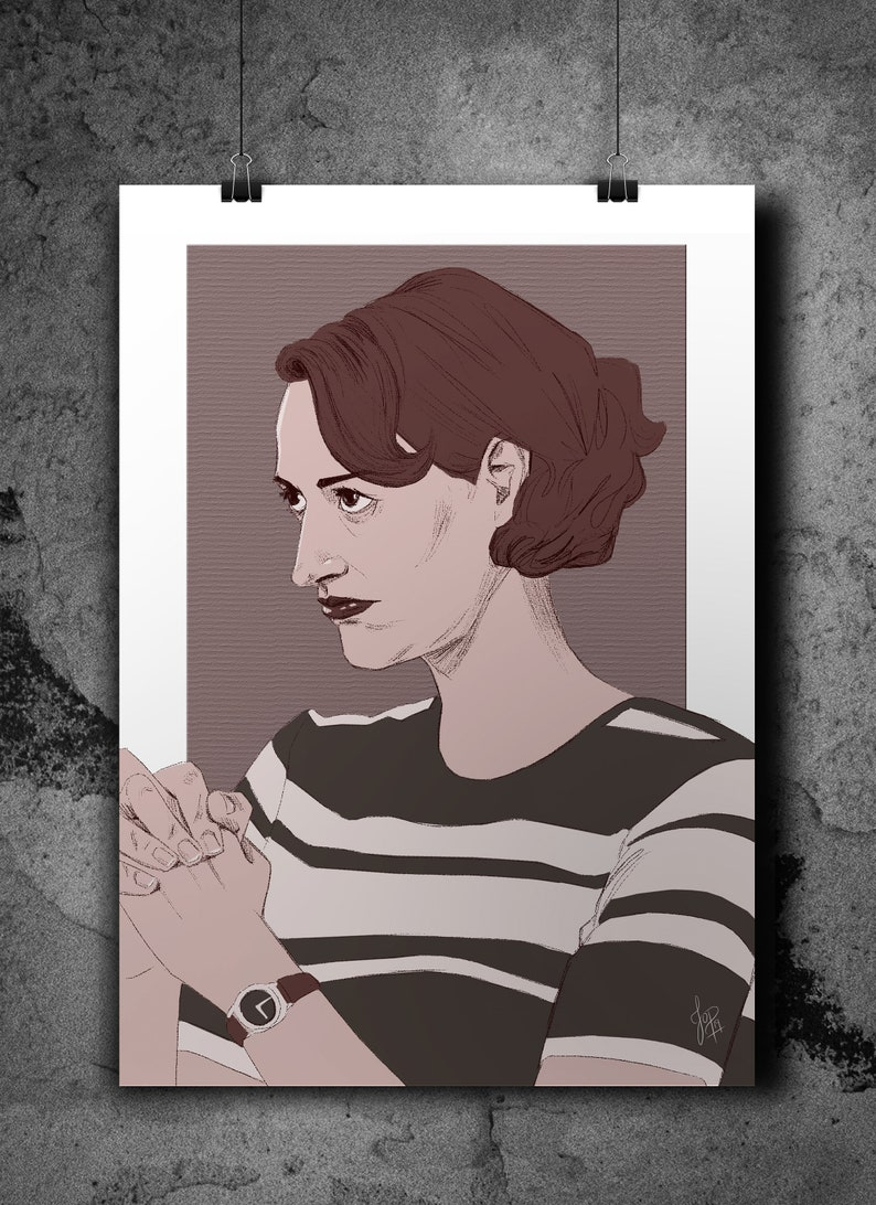 Fleabag illustrated small A4 print image 0