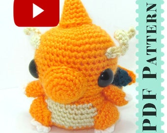 Dragonite Amigurumi Crochet Tutorial Companion Pattern