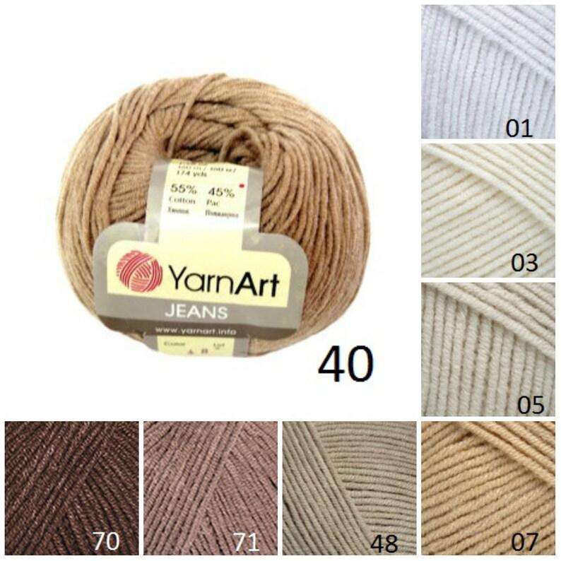 e283e173d55 YarnArt JEANS brown beige pattern yarn cotton yarn crochet