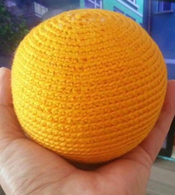 Hand Knit Ball Softball Ball Hand Knitted Ball Crochet Etsy