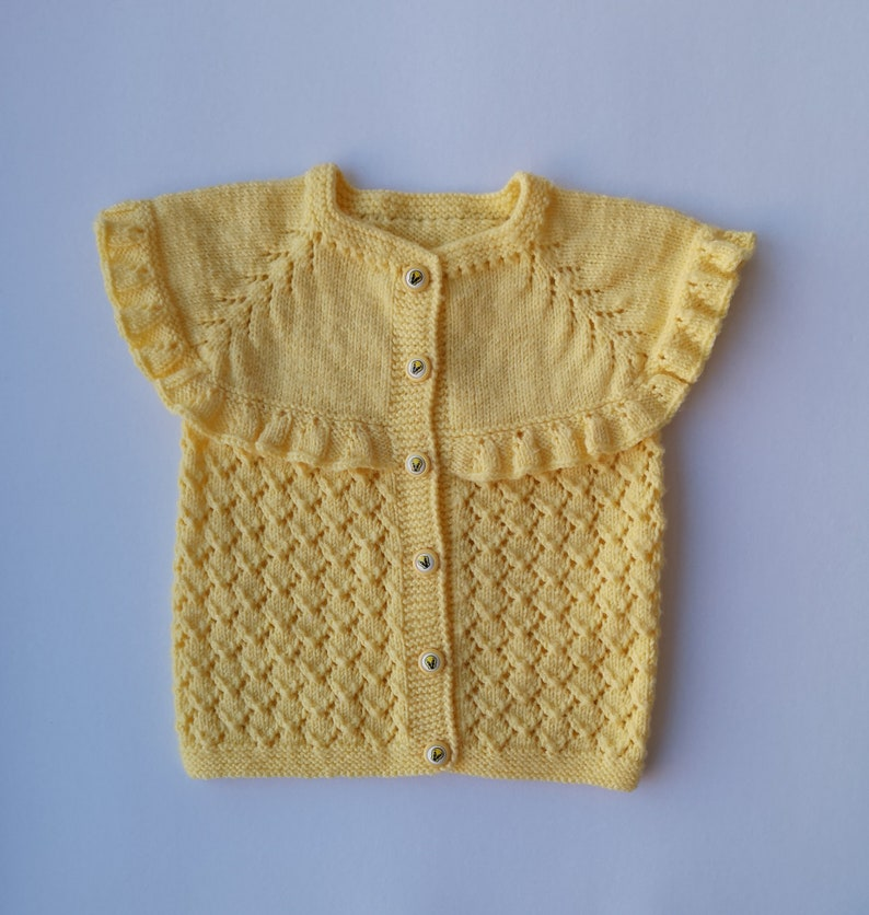 0d3a0ce771d5 Knit baby vest yellow baby vest knitting baby vest hand