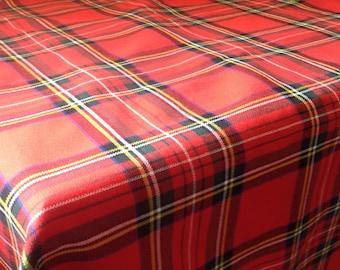 "Royal Stewart Tartan Scottish Tablecloth 58"" x 58"""
