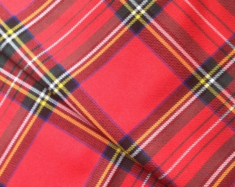 """Royal Stewart Tartan Scottish Napkins 17"""" x 17"""" Set of 4"""