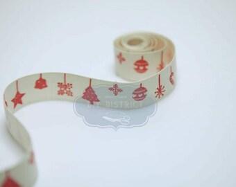 5 mètres fil bordée de Noël Ruban blanc//rouge bonhommes de neige avec Chapeau /& Écharpe.
