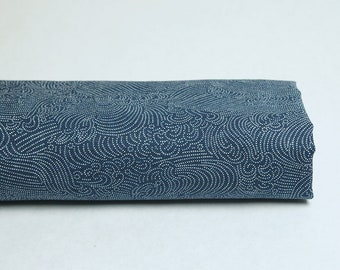 Traditional Japanese fabric blue capri Nami pattern - 50cm, Japanese fabric, Japanese fabrics, Nami, traditional Japanese fabric, capri fabric