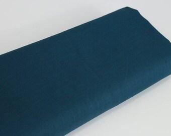 Japanese blue duck fabric cotton lawn - 50cm, Japanese fabrics, cotton lawn uni, light cotton, duck blue cotton, plain duck blue cotton