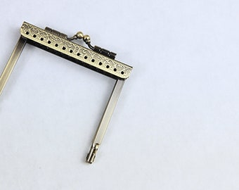 7cm square clasp - square clasp, coin door clasp, 7cm clasp, small clasp, bronze clasp, square-shaped clasp, relief clasp
