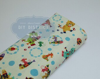 Japanese cat and mouse fabric.