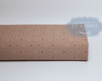 Pink Japanese fabric Asanoha dotted