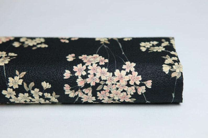 Sakura-50cm Japanese fabric Sakura flower Sakura Japanese fabric Japanese fabrics Japanese fabric Sakura black-pattern sakura fabric