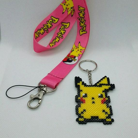 Custom Lanyard + keychain: Pokémon (Pikachu)