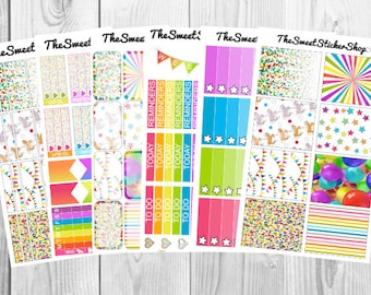 Carnival (100+ Stickers): for use with Erin Condren Vertical Planner (Weekly)