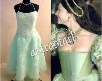 Princess dress XS-S 6-8 prom wedding party medieval Tudor gothic witch  costume renaissance wicca x-mas LARP pageant ball dance fairy elven f83cc38ab3e9