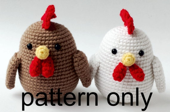 Pdf Pattern Chinese New Year Rooster Crochet Rooster Etsy