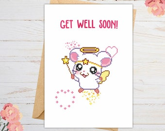 Get Well Soon Card, Get Well Soon Gift, Kawaii Card, Sympathy Card, Recovery Card, Recovery Gift, Geeky, Nerdy, for Friends, for Friend