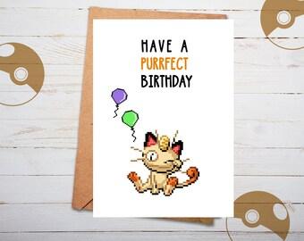 Pokemon Birthday Card Funny Nerdy Geeky Gifts For Boyfriend Go