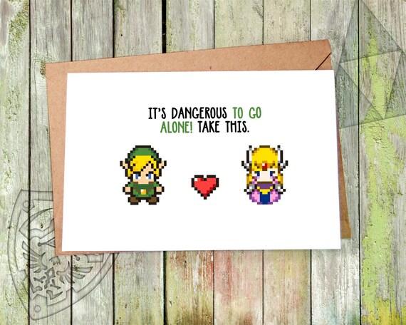 Valentine Card Zelda Valentine Valentines Day Card Etsy