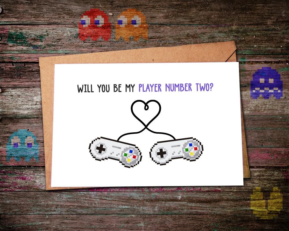 Valentines Day Card Video Game Valentine