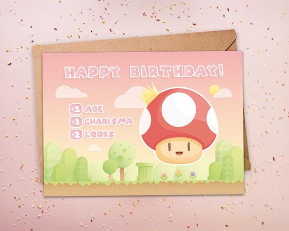 Funny Birthday Card Gamer Birthday Geeky Birthday Nerdy Etsy