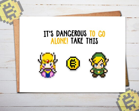 Bitcoin Card Zelda Zelda Card Legend Of Zelda Birthday Etsy
